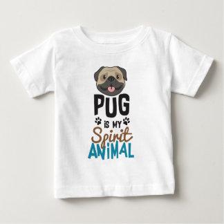 T-shirt Pour Bébé Le carlin mignon est mon animal d'esprit