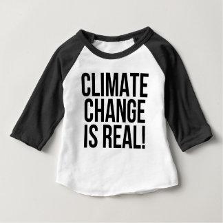 T-shirt Pour Bébé Le changement climatique est vrai ! Monde de la