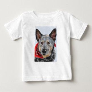 T-shirt Pour Bébé Le chien avec la bandanna rouge