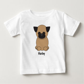 T-shirt Pour Bébé Le chien de carlin de Brown de bande dessinée