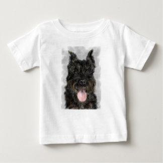 T-shirt Pour Bébé Le chien noir avec la langue rose