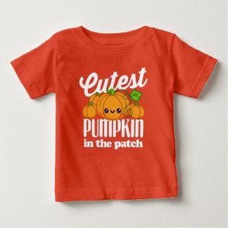 T-shirt Pour Bébé Le citrouille le plus mignon pendant l'automne de