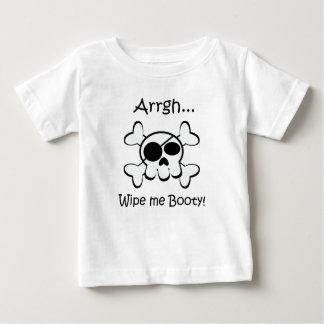 T-shirt Pour Bébé Le crâne de pirate m'essuient butin