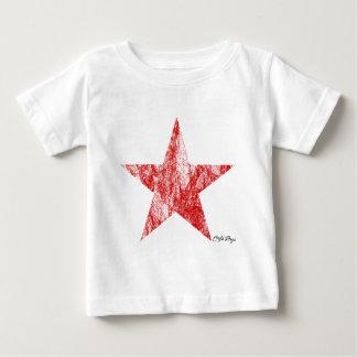 T-shirt Pour Bébé Le cru rouge d'étoile de coureur de café a dénommé