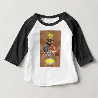 T-shirt Pour Bébé Le dessus raglan de l'enfant d'arbre de Noël de