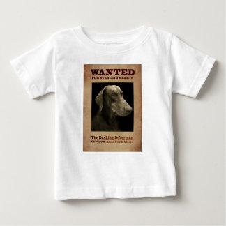 T-shirt Pour Bébé Le dobermann se précipitant