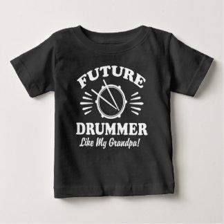 T-shirt Pour Bébé Le futur batteur aiment mon grand-papa