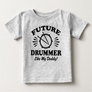 T-shirt Pour Bébé Le futur batteur aiment mon papa