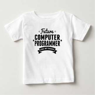 T-shirt Pour Bébé Le futur informaticien aiment mon papa