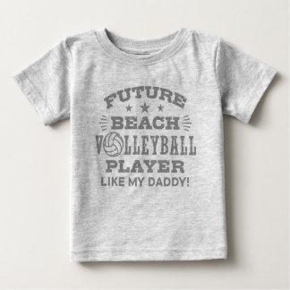 T-shirt Pour Bébé Le futur joueur de volleyball de plage aiment mon