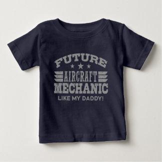 T-shirt Pour Bébé Le futur mécanicien d'aviation aiment mon papa