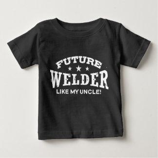 T-shirt Pour Bébé Le futur soudeur aiment mon oncle