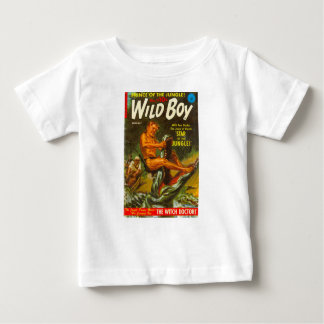 T-shirt Pour Bébé Le garçon sauvage lutte un crocodile