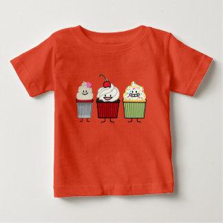 T-shirt Pour Bébé Le glaçage de famille de petit gâteau arrose le