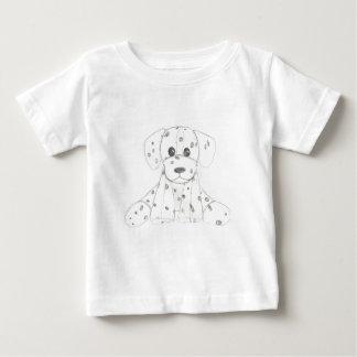 T-shirt Pour Bébé le griffonnage simple de chien badine le Dalmate