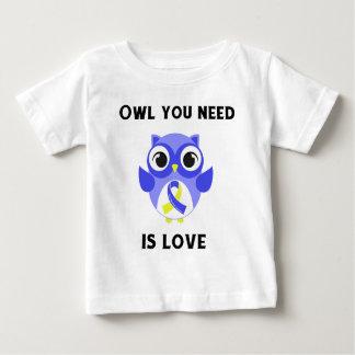 T-shirt Pour Bébé Le hibou que vous avez besoin est amour,