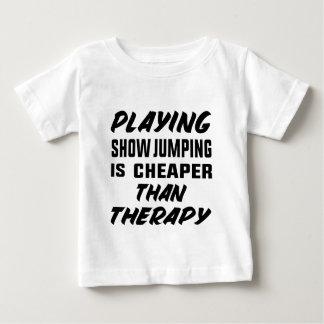 T-shirt Pour Bébé Le jeu de sauter d'exposition est meilleur marché