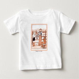 T-shirt Pour Bébé Le livre d'enfant vintage - parlant au cowboy