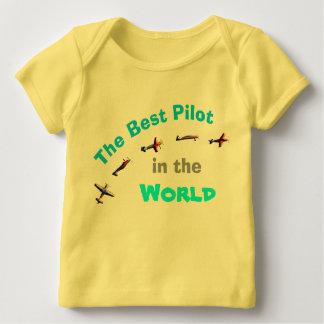 T-shirt Pour Bébé Le meilleur pilote au monde