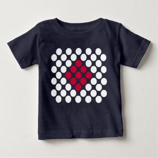T-shirt Pour Bébé Le minimaliste de drapeau du Japon pointille le