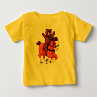 T-shirt Pour Bébé Le nounours concernent une chemise galopante de