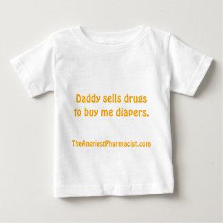 T-shirt Pour Bébé Le papa vend des drogues pour m'acheter des