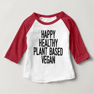 T-shirt Pour Bébé Le plante sain heureux a basé le végétalien (le