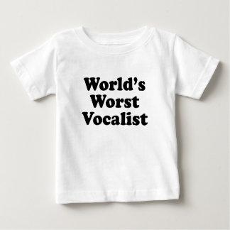 T-shirt Pour Bébé Le plus mauvais chanteur du monde