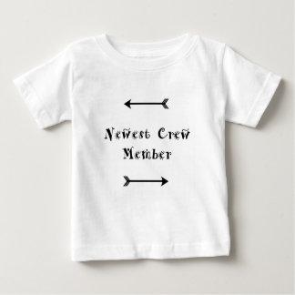 T-shirt Pour Bébé Le plus nouveau membre d'équipage - accueil