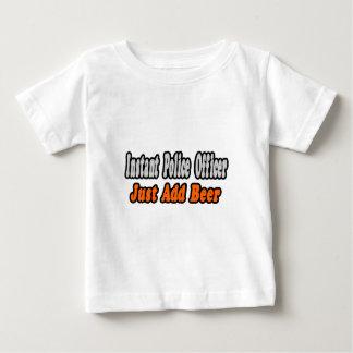 T-shirt Pour Bébé Le policier… ajoutent la bière