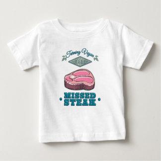 T-shirt Pour Bébé Le végétalien de rotation est un GRAND bifteck