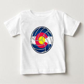 T-shirt Pour Bébé Le volleyball de drapeau du Colorado badine la