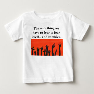 T-shirt Pour Bébé Le zombi remet l'orange