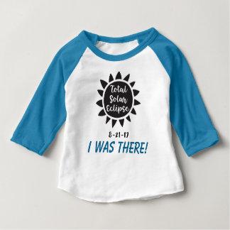 T-shirt Pour Bébé L'éclipse 2017 solaire totale j'étais là tee -