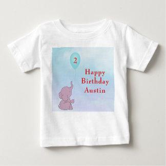 T-shirt Pour Bébé L'éléphant fait sur commande de bébé et montent en