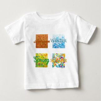 T-shirt Pour Bébé Les 4 Saisons. Graphisme et couleurs !