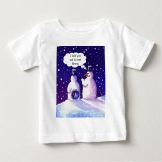 T-shirt Pour Bébé Les bonhommes de neige ne mangent pas des haricots