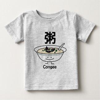 T-shirt Pour Bébé Les Chinois de bol de gruau de gruau de riz de
