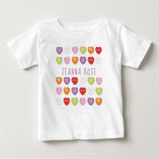 T-shirt Pour Bébé Les coeurs de conversation ont personnalisé le