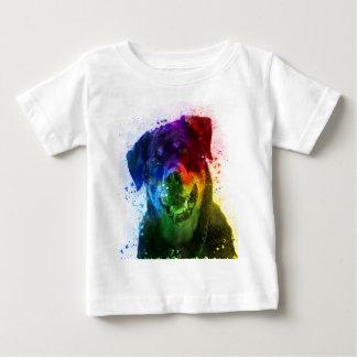 T-shirt Pour Bébé Les couleurs de l'amour sont un rottweiler