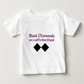 T-shirt Pour Bébé Les diamants noirs sont un meilleur ami de filles