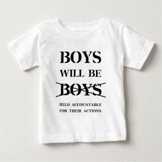 T-shirt Pour Bébé Les garçons seront des garçons (la malédiction