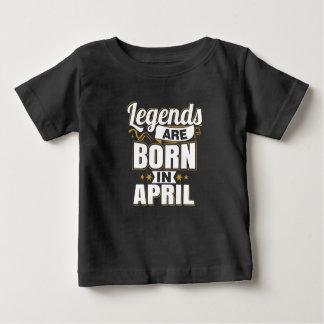 T-shirt Pour Bébé Les légendes sont nées en avril