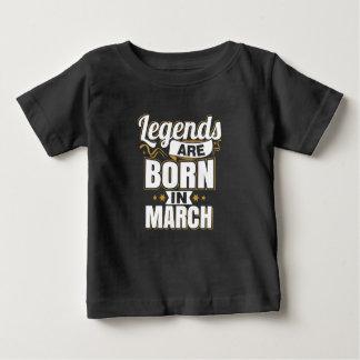 T-shirt Pour Bébé Les légendes sont nées en mars