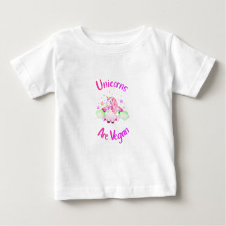 T-shirt Pour Bébé Les licornes sont végétaliennes - bébé magique de