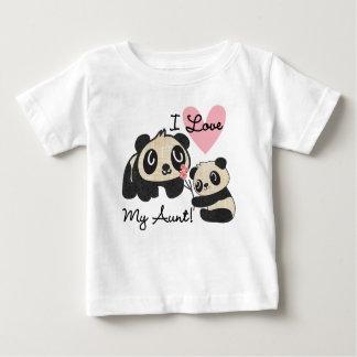 T-shirt Pour Bébé Les pandas I aiment ma tante