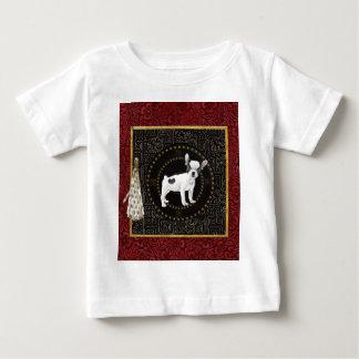T-shirt Pour Bébé Les terriers de Jack Russell, forme ronde, signent
