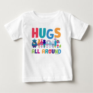 T-shirt Pour Bébé Les trolls | étreint tous autour