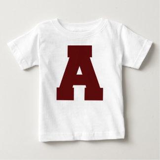 T-shirt Pour Bébé Lettre initiale A