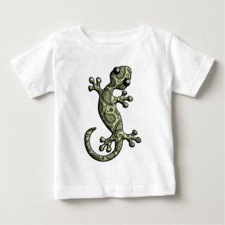 T-shirt Pour Bébé Lézard blanc vert de Gecko d'escalade